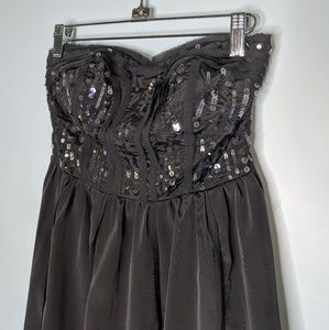 American Eagle Sequin Strapless Dress